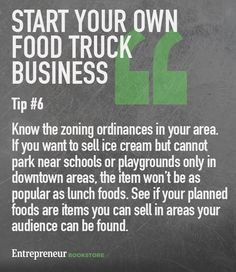 Food Inspiration Tips to to have your own food truck business  Know the  zoning ordinances a1d5d73839371