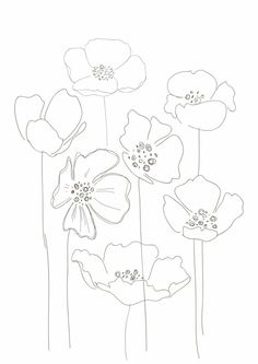 Line Drawing Poppy Flower Line Drawing Poppy Flower. Line Drawing Poppy Flower. Simple Poppy Drawing Simple Poppy Drawing Keywords in poppy flower drawing Poppies Art Floral, Motif Floral, Poppy Drawing, Floral Drawing, Flower Drawings, Botanical Line Drawing, Hand Embroidery, Embroidery Designs, Floral Embroidery Patterns