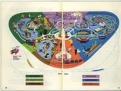 Disneyland map, summer 1969