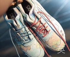 Awesome Details From Atmos Asics Gel Lyte 3 World Map