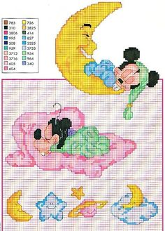 baby disney cross stitch. Even though I HATE to count cross stitch.