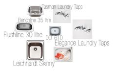 """Laundry Tubs and Taps"" by insideout1 on Polyvore featuring interior, interiors, interior design, home, home decor and interior decorating"