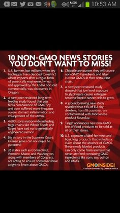 GMO news stories to be in the know!
