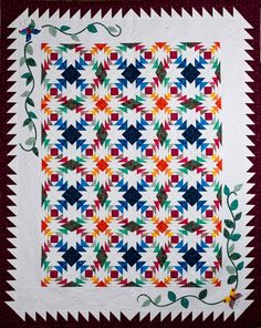 north central washington quilt guild's pineapple salsa 2012 raffle quilt