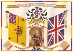 Colours of the 99th Duke of Edinburgh's Regiment, presented by Corporal C. Miller circa. 1874.