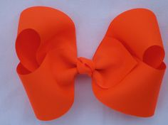 neon orange grosgrain bow by YeauxYeauxBows on Etsy, $8.00