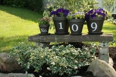 House Number Flower Pots - welcoming guests :: Hometalk