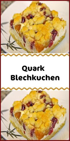 Quark Blechkuchen The post Quark Blechkuchen appeared first on cake decoration. Quick Dessert Recipes, Easy Cookie Recipes, Brownie Recipes, Easy Desserts, Dessert Simple, Diet Cake, Cheesecake Bars, Vanilla Flavoring, Recipe For 4