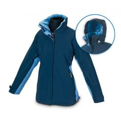 Parka mujer impermeable bicolor Referencia  288-MPB Marca:  Marca PL  Resistente tejido exterior TASLON+PVC. Interior de forro polar de 245 g.