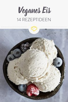 : 14 vegan ice cream recipes to enjoy with and without ice cream maker 14 vegane Eisrezepte zum Genießen – mit und ohne Eismaschine Make vegan ice cream dreams come true! These 14 vegetable ice cream recipes are at least as delicious and creamy a Healthy Ice Cream, Vegan Ice Cream, Baby Food Recipes, Sweet Recipes, Vegan Recipes, Gelato, Natural Ice Cream, Cake Vegan, Dreams Come True
