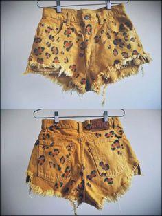 cheetah sharpie shorts!!! <3