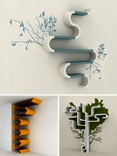 Yep. This (top one) is just so lovely.  Creative Bookcases | b-spLendid