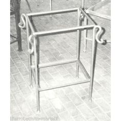 Bedside Table Wrought Iron. Customize Realizations. 880
