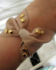 DIY leather bow cuff