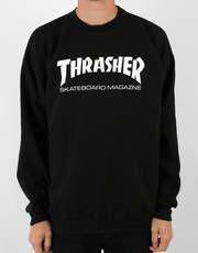 Thrasher Skate Mag Crewneck Sweat - Black