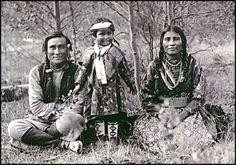 Beaver Family, Stoney Tribe.  Blackfoot Niitsitapi, 1906