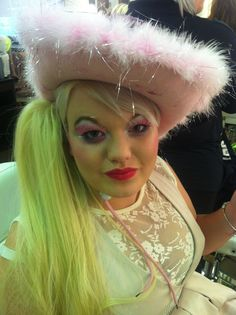 Cow Girl Fairy Pantomime Hair and Make Up