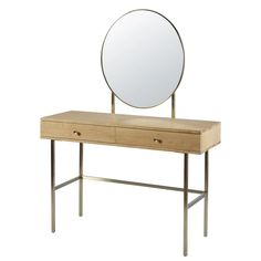 This furniture product is made of FSC certified wood. This label guarantees that the wood comes from a responsibly managed forest; 2 Drawer Dressing Table, Vintage Dressing Tables, Tinted Mirror, Velvet Headboard, Metal End Tables, Cotton Bedding Sets, Velvet Armchair, Makeup Rooms, Console Table