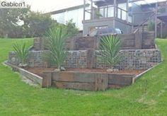 timber and gabion retaining wall http://www.gabion1.com