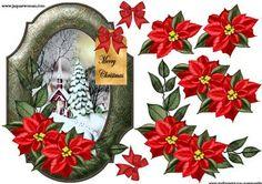 Traditional Vintage Christmas on Craftsuprint designed by Marijke Kok…