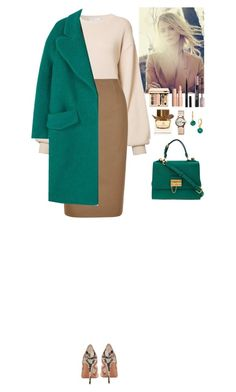 """""""Outfit"""" by eliza-redkina ❤ liked on Polyvore featuring Ryan Roche, Hobbs, Gucci, Kate Spade, Dolce&Gabbana, MANGO, Aquazzura, Burberry, Yves Saint Laurent and Guerlain"""