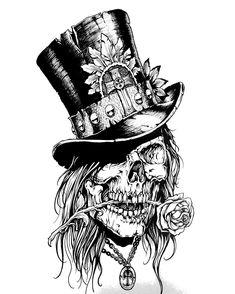 Top skulls n sugar skulls tattoos, tattoo drawings ve Tattoo Design Drawings, Skull Tattoo Design, Tattoo Sketches, Art Sketches, Art Drawings, Tattoo Designs, Tattoo Ideas, Skull Design, Neue Tattoos