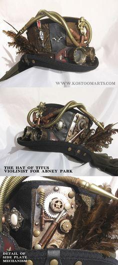 Titus Munteanu's (Abney Park) steampunk hat
