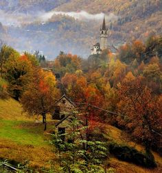 Mountain Village, Piedmont, Italy