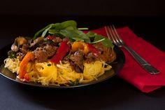 Ratatouille with ground beef and spaghetti squash - dairy-free & gluten-free via @reciperenovator