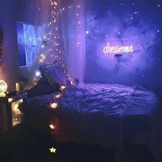 67 Ideas How To Create a Dream Bedroom Decor on a Budget - Life Hack Cute Bedroom Ideas, Girl Bedroom Designs, Room Ideas Bedroom, Awesome Bedrooms, Cool Rooms, Bedroom Decor, Modern Bedroom, Bed Designs, Galaxy Bedroom Ideas