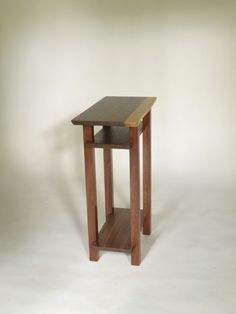 Incroyable A Handmade Narrow Wood Table With Live Edge Table Top  Would Be A Lovely  Narrow Nightstand, Small End Table, Or Other Unique Accent Furniture Piece.