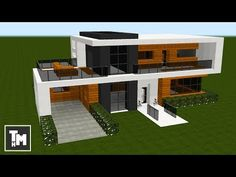 Minecraft: How To Build a Small Modern House Easy (4K) (Episode 5) 2017 | Minecraft Stream