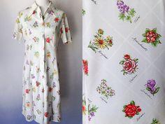 vintage 1960s day dress | vintage medium dress | medium day dress | floral dress | 50 states | summer dress | vintage | vintage floral dress