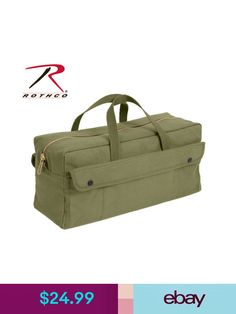 648e05ea4911 Unisex Accessories Rothco 7263 Canvas Jumbo Tool Bag With Brass Zipper -  Olive Drab