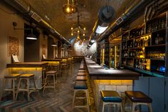 DOB3 Beer and whisky bar by Miklós Kiss & 81Font, Budapest – Hungary branding branding bar
