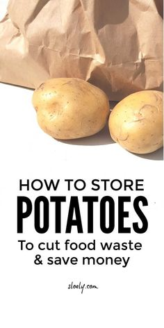 Learn the best ways to store potatoes to cut food waste and save money on groceries. These potato storage tips explain how to store potatoes and the best places to store potatoes to stop them sprouting, moulding and going green. #howtostorepotatoes #storingpotatoes #potatostorage #frugalfood #foodstorage #budgetfood Where To Store Potatoes, Frugal Meals, Budget Meals, Potato Storage, Real Food Recipes, Healthy Recipes, Save Money On Groceries, Food Waste, Kitchens