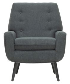 Baxton Studio Levison Linen Modern Accent Chair - Gray - Accent Chairs at Hayneedle