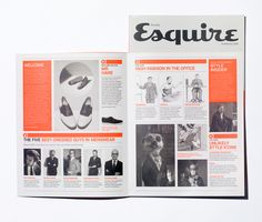 Esquire – Exclusive / Art Director David McKendrick / Designer Nick Millington #impaginato #fluo #multiply
