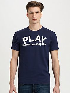Comme des Garcons Play Cotton Graphic Tee