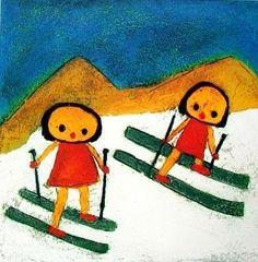 Kinder im Schnee door Giovanni Vetere - Te huur/te koop via Kunsthuizen.nl