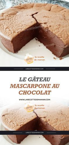 Pie Recipes 88490 The Chocolate Mascarpone Cake - Mom's Recipe Pie Recipes, Cookie Recipes, Dessert Recipes, Mascarpone Cake, Recipe For Mom, Mom's Recipe, Food Cakes, Chocolate Recipes, Cake Chocolate