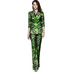Fashion African Print Women Pant Suits Festive Ladies Wide Leg Pants With Long Sleeve Tailored Suit Jacket African Clothing African Fashion, African Style, Pantsuits For Women, Pant Suits, Pants For Women, Clothes For Women, Tailored Suits, African Attire, Wide Leg Pants