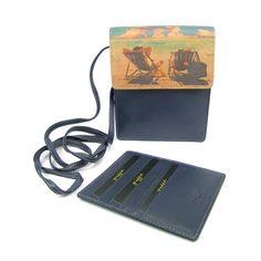 Barevné pouzdro na doklady z pravé kůže s pouzdrem na karty. Wallet, Chain, Necklaces, Purses, Diy Wallet, Purse