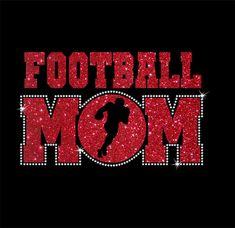 Women's Glitter and Rhinestone Football Mom by RedheadedMonkeys
