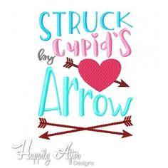Cupid's Arrow Applique Embroidery Design - Valentine's Day embroidery