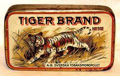 Tiger Brand Pocket Tobacco Tin 1920s
