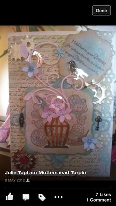 Steampunk style card I've made. Pinterest Cards, Steampunk Fashion, Stamping, Card Making, Frame, Home Decor, Style, Picture Frame, Swag