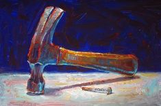"""Hammer and Nail"" - Original Fine Art for Sale - © Raymond Logan"