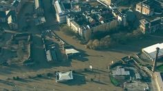 The BBC News helicopter captures images of the extent of flooding in Yorkshire and Lancashire. Bbc News, Aerial View, Yorkshire, Tourism, City, December, Image, Beautiful, Turismo