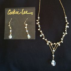 FREE w/PurchaseCookie Lee Crystal Jewelry Set Free = read post in my closet for more details!NWT! Genuine crystal necklace & earring set by Cookie Lee. ✨Save on shipping cost & bundle!!✨ Cookie Lee Jewelry
